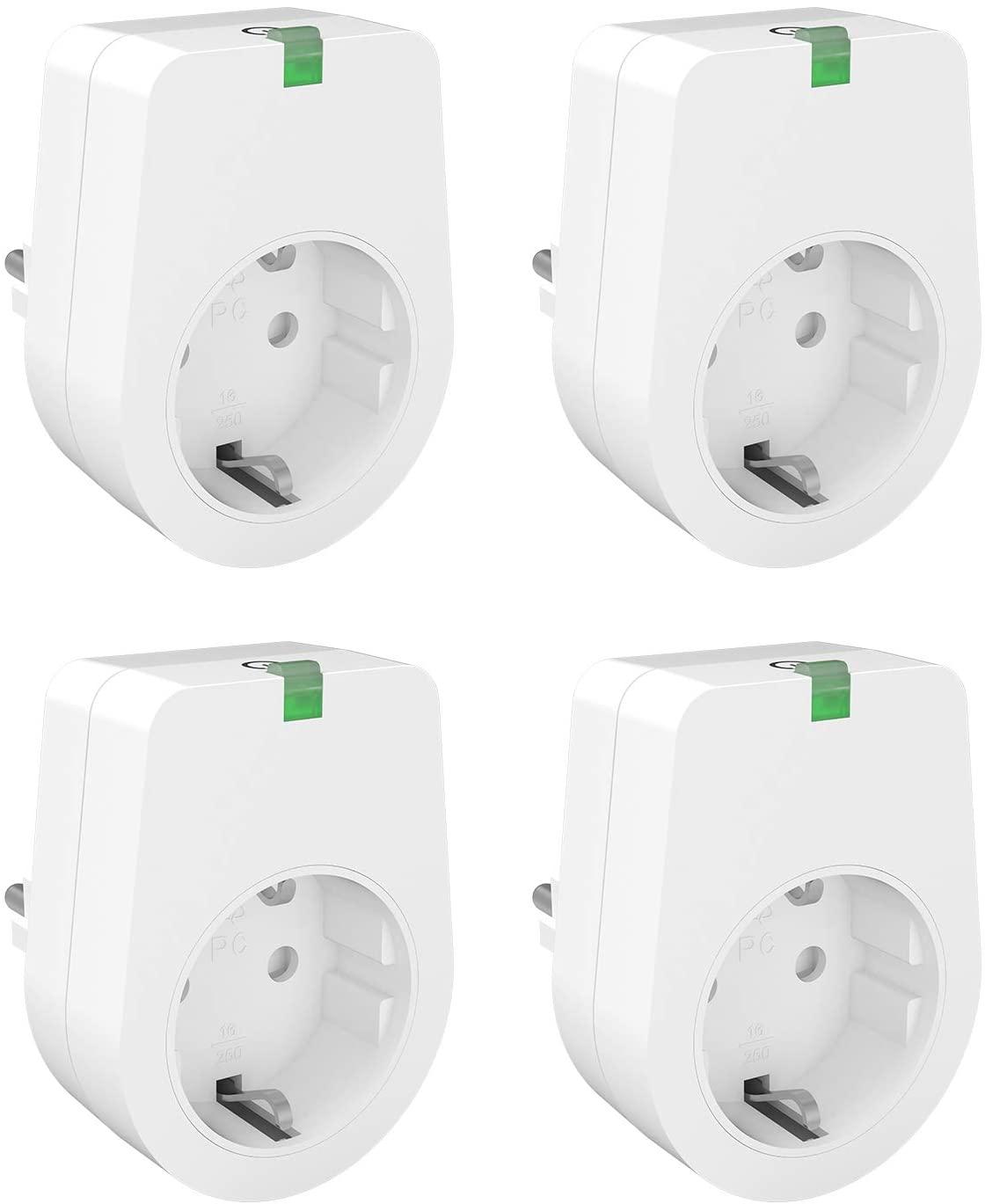 4 x Enchufe wifi compatible Alexa y Google home - Luvon