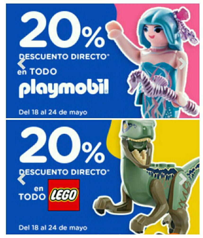20% de descuento directo en Lego y Playmobil