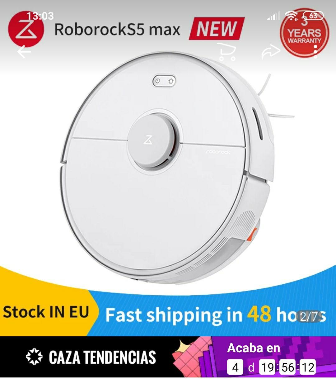 Xiaomi-Aspiradora robot Roborock S5 MAX