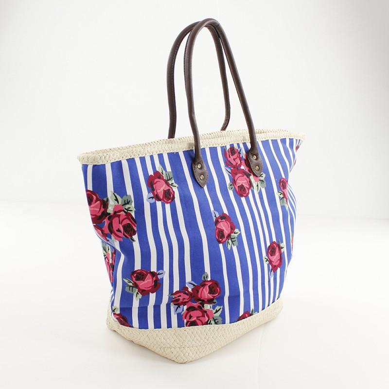 Bolso de playa con estampado floral