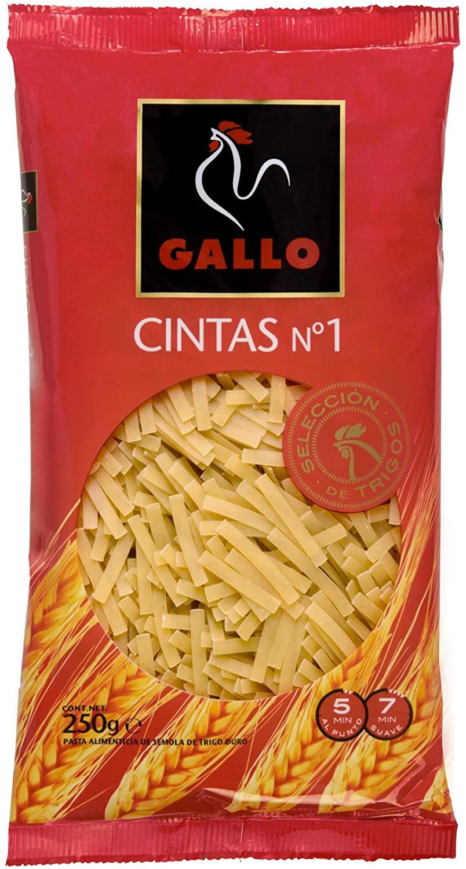 Pastas gallo cintas 1 250gr