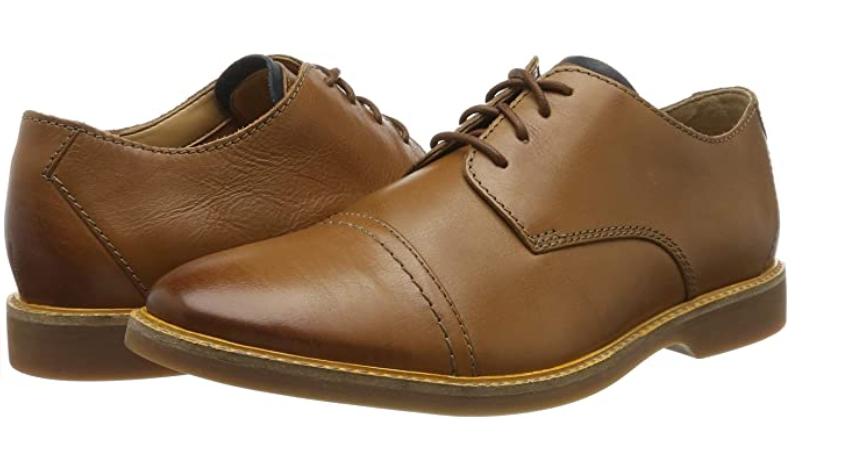 TALLA 45 - Clarks Atticus Cap, Zapatos de Cordones Derby para Hombre