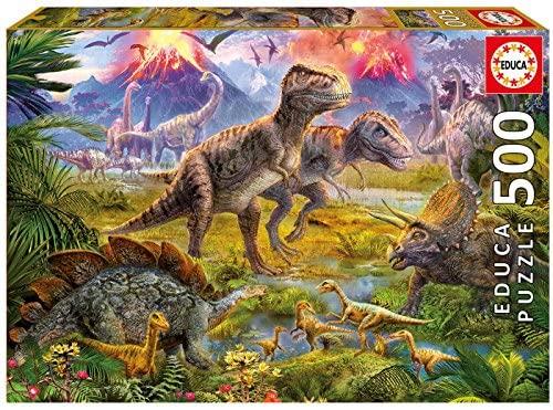Puzzle 500 piezas dinosaurios marca educa