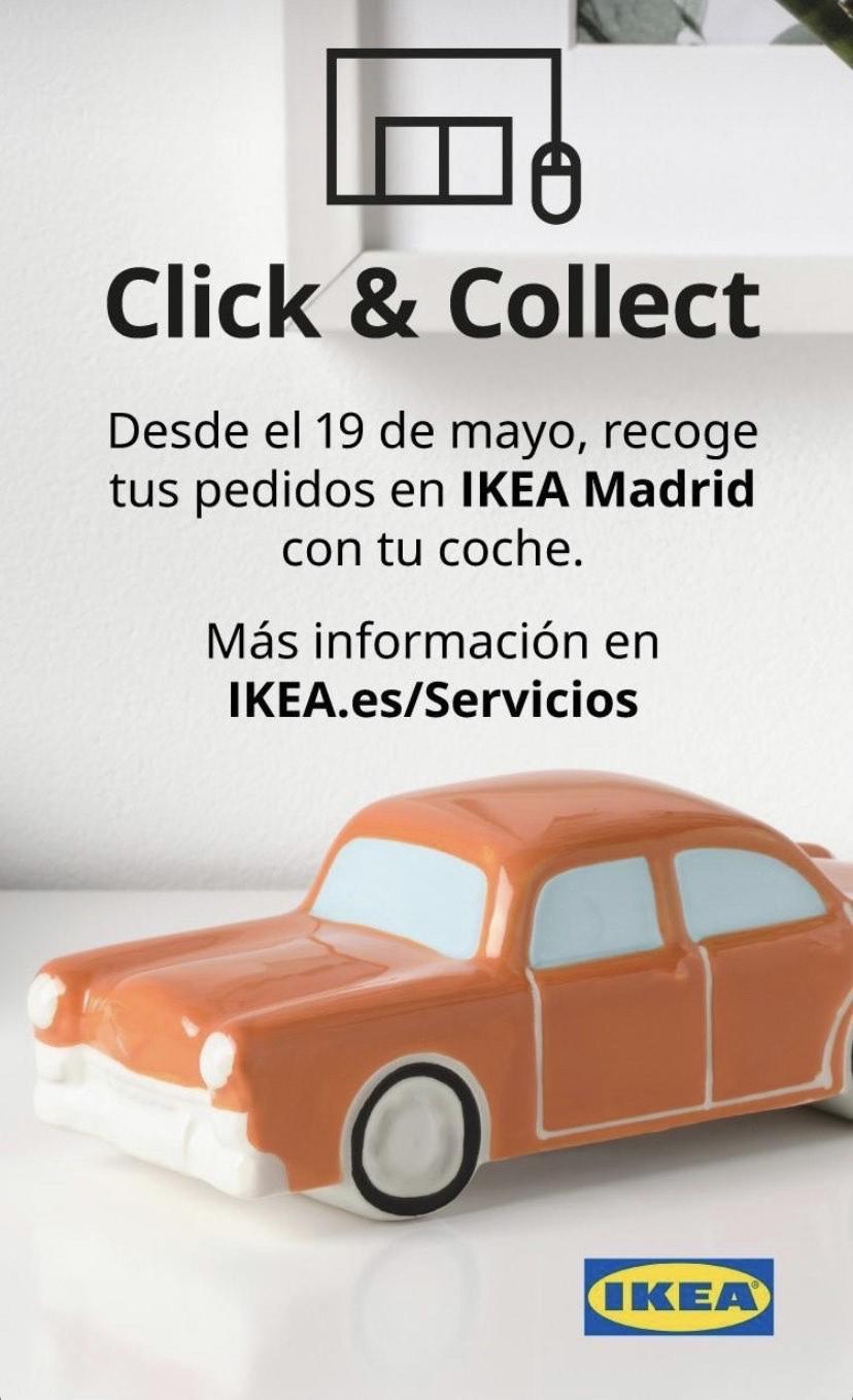 Servicio Click & Collect a partir de mañana 19 de mayo en IKEA