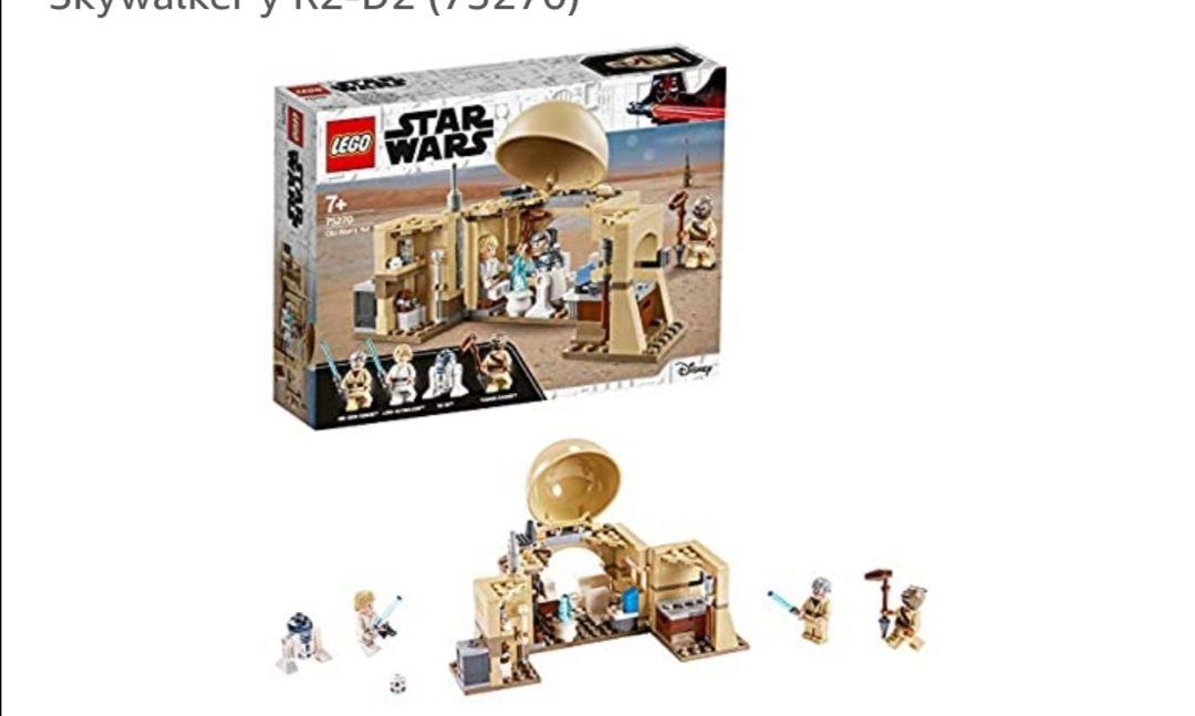 LEGO Star Wars - Cabaña de Obi-Wan, con Techo Desplegable, Incluye un Droide y Holograma de la Princesa Leia, Minifiguras..