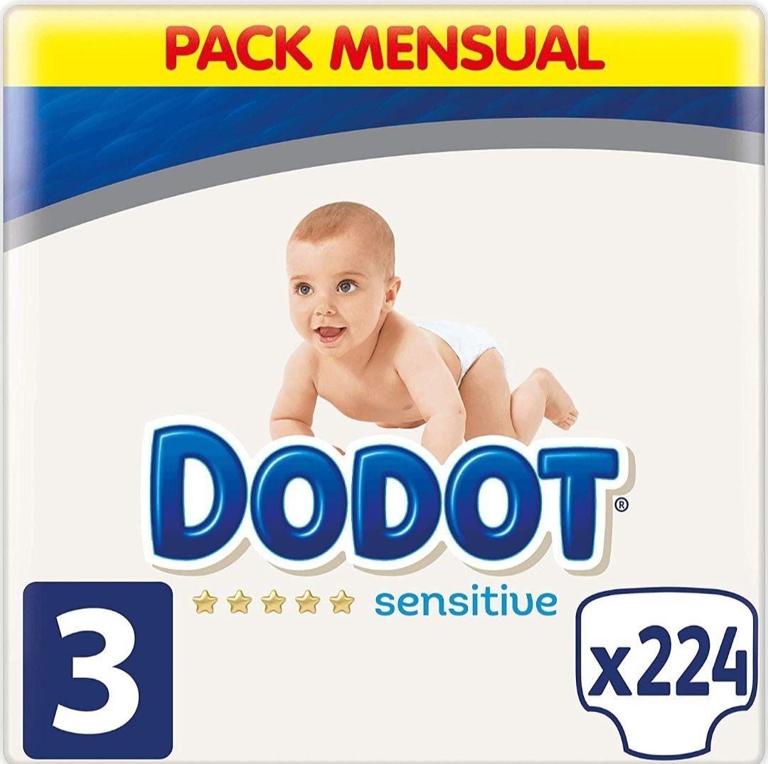 Pañales Dodot Sensitive T3 224 unds.