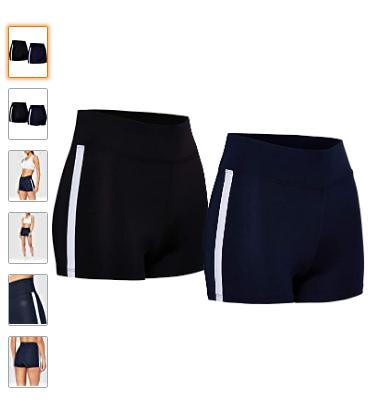 Marca Amazon - AURIQUE Shorts de Deporte Mujer talla 38,40,42 y 44.