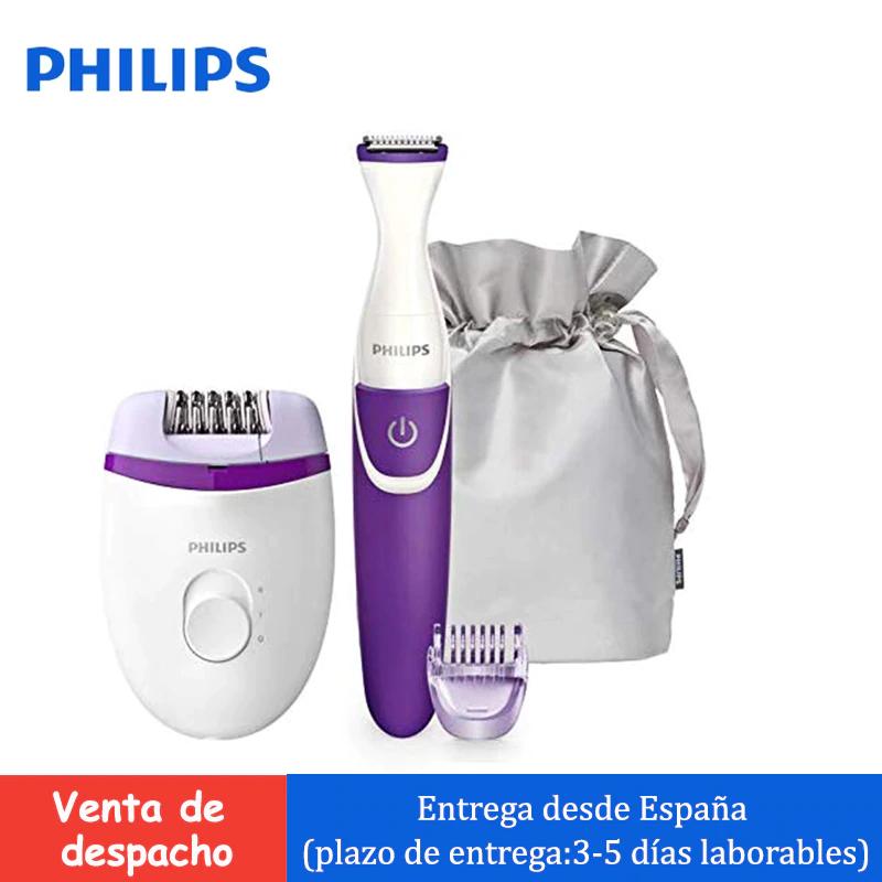 Philips Brp505/00-kit de depilación corporal 4 accesorios con bolso