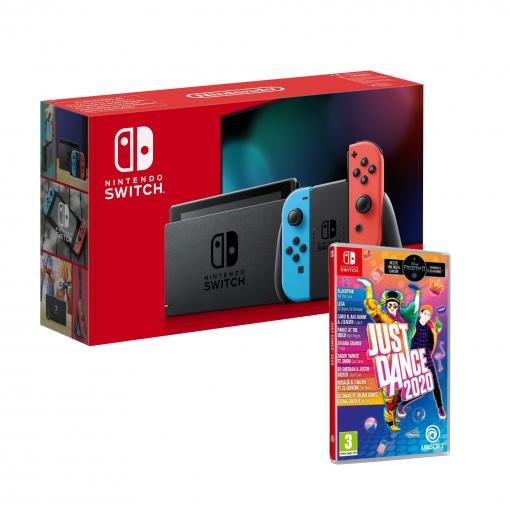Nintendo Switch Rojo/Azul Neón con Just Dance 2020 en Carrefour