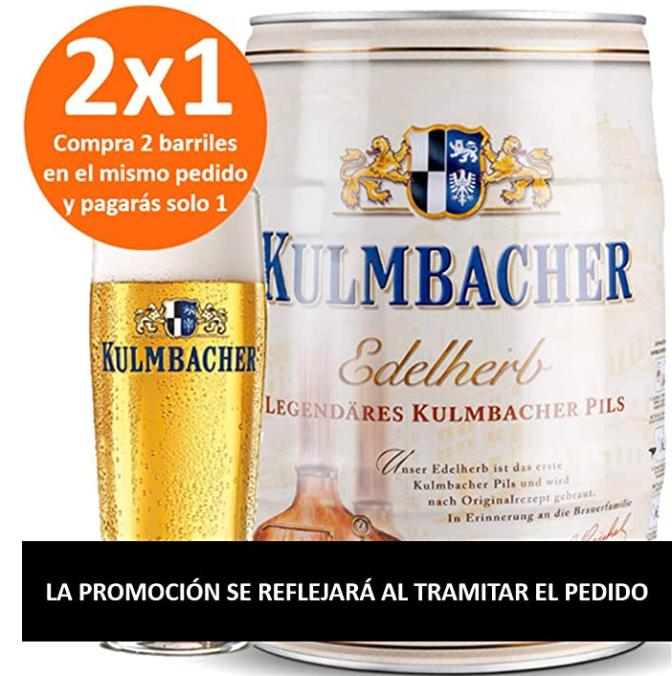 2x Barrilles Cerveza Kulmbacher 5L + Posavasos - Precio al tramitar