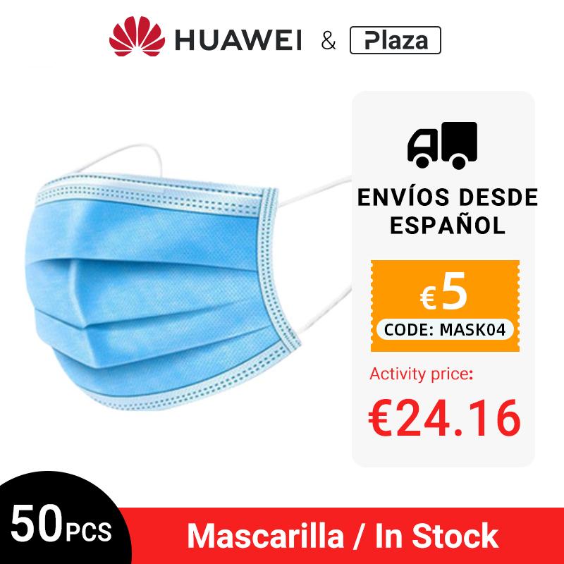 Mascarillas desechables 50 unidades por 24'16€ (a 0,48€ la unidad, desde España)