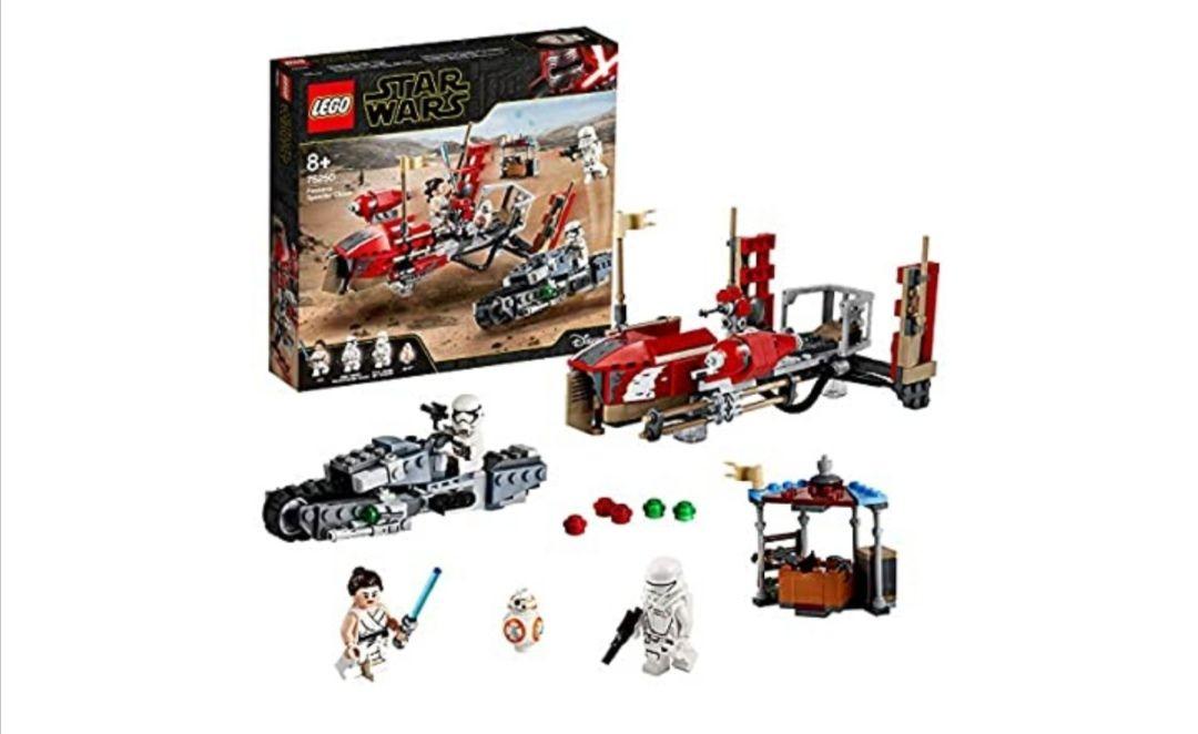 LEGO Star Wars TM - Trepidante Persecución en Pasaana, Set de Construcción Inspirado en la Guerra de la Galaxias, Vehículo Espacial