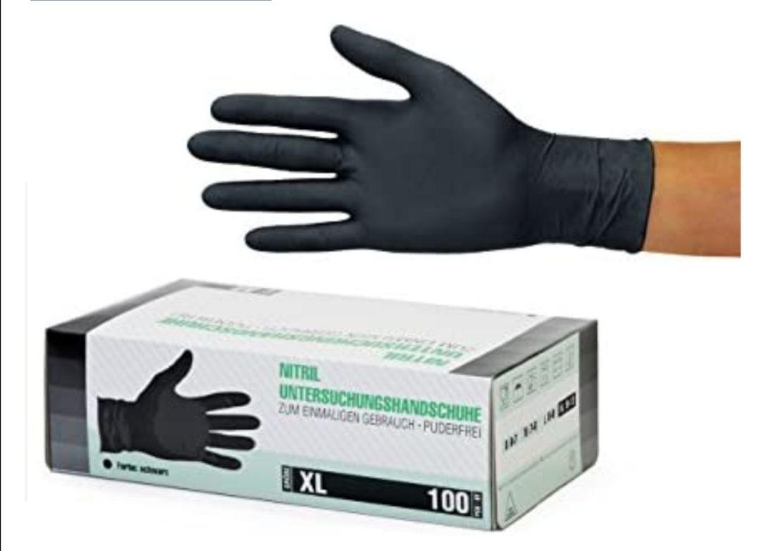 Guantes de nitrilo transparente Guantes libres de látex sin polvo Limpieza Guantes sanitarios 100 pcs caja