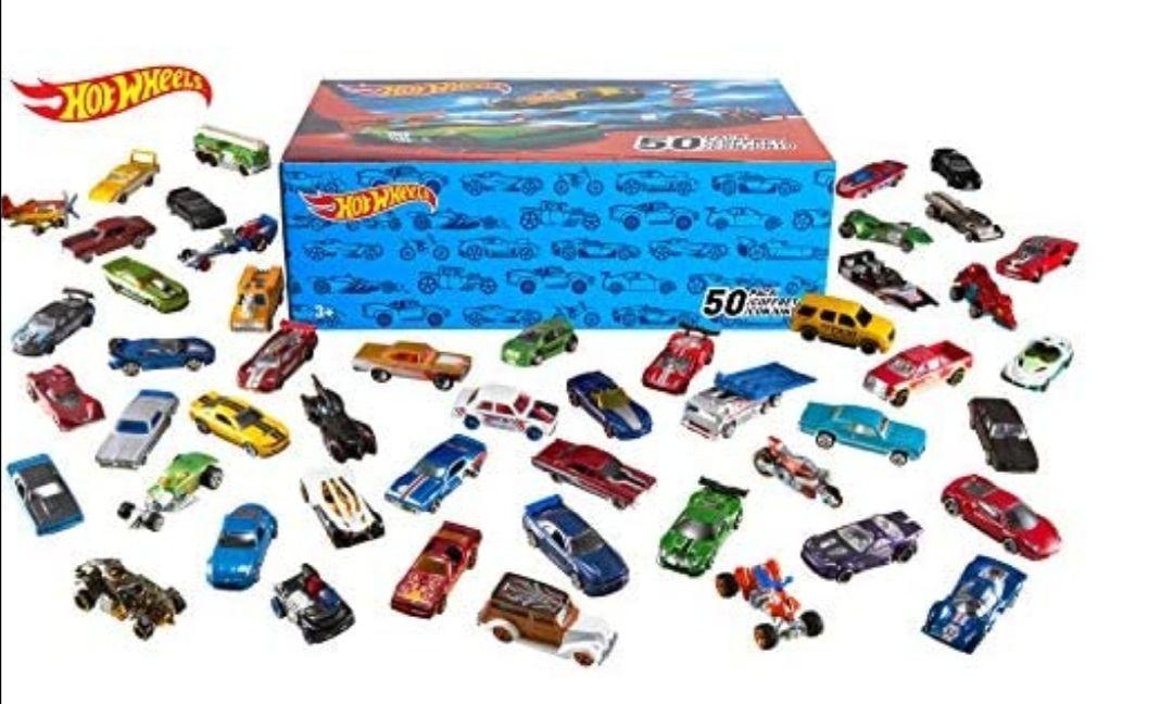 Hot Wheels- Hotwheels Pack 50 Vehículos, coches de juguete, Multicolor