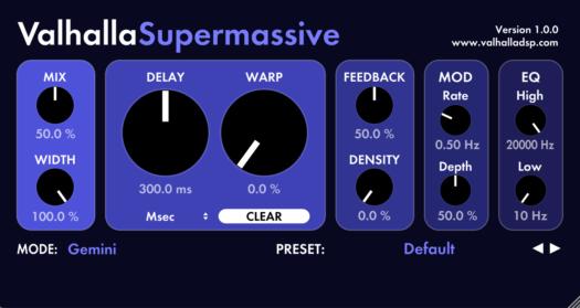 Gratis VST Delay Valhalla SuperMassive Win Mac Nuevo!