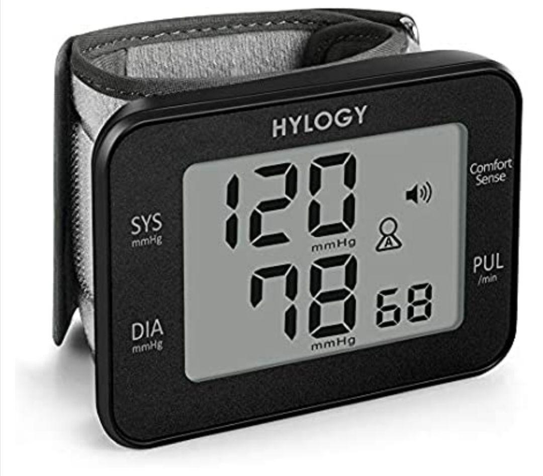 Tensiómetro de Muñeca, HYLOGY Monitor de Presión Digital