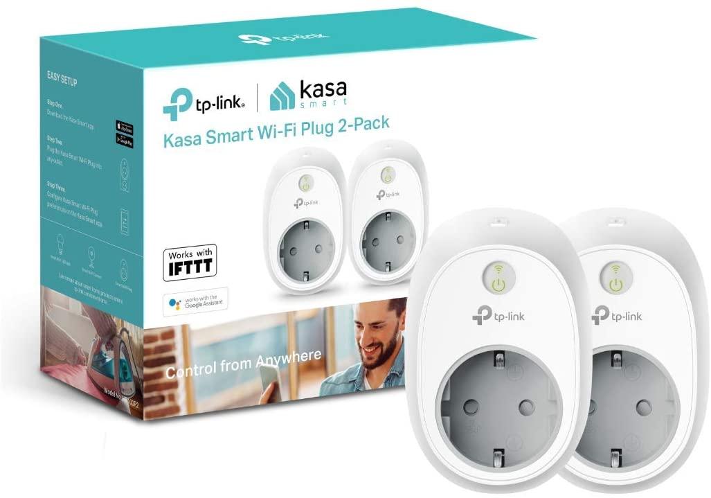TP-Link, Enchufe Inteligente funciona con Amazon Alexa y Google Home e Ifttt (Hs100) (2 Pack), Wi-Fi Ready