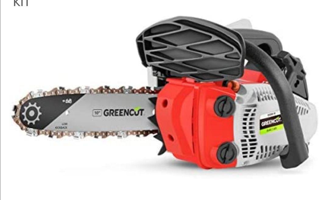 GREENCUT GS250X-10 - Motosierra Poda de gasolina 25,4cc y 1,4cv con espada de 10'' Arranque Easy-Start, Sistema Anti-Vibración