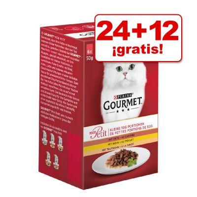 Comida húmeda para gatos Gourmet Mon Petit 36 x 50 g en oferta: 24 + 12 ¡gratis!.