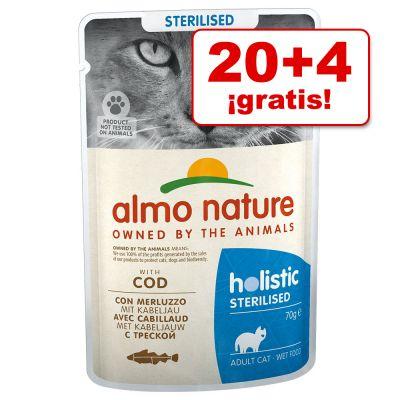 Almo Nature Holistic Sterilised 24 x 70 g bolsitas en oferta: 20 + 4 ¡gratis!