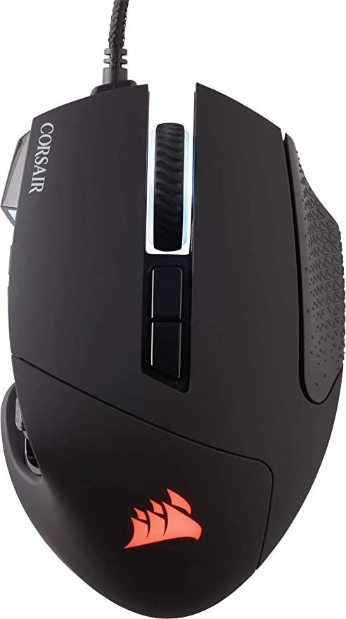 Ratón Corsair Scimitar Pro RGB / retroiluminación RGB / 16000 DPI / 17 botones programables