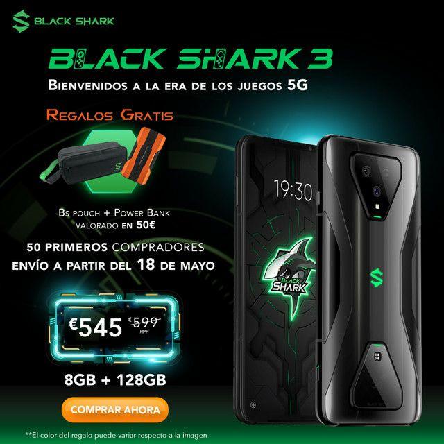 Black Shark 3 5G [8/128GB] - DESDE ESPAÑA (2 AÑOS GARANTÍA)
