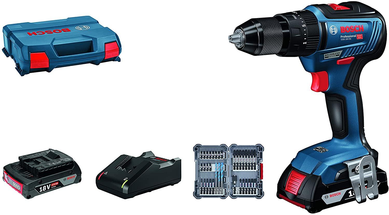 Bosch Professional GSB 18V-55 dos baterías + accesorios Impact 176,15€