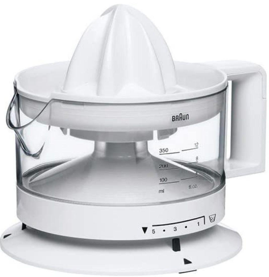 BRAUN Exprimidor CJ 3000 con capacidad de 350 ml. Cantidad pulpa ajustable, apto para lavavajillas .