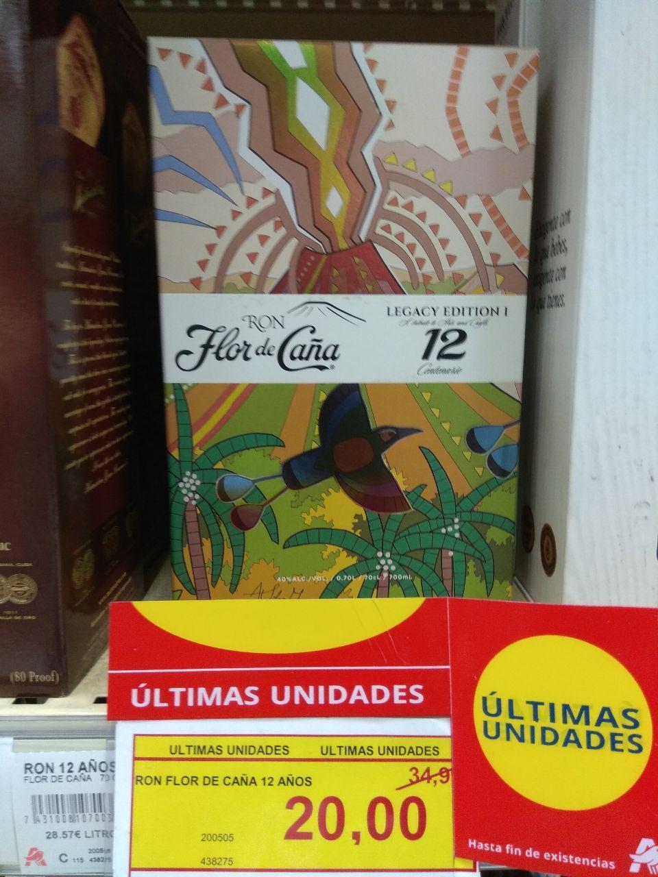 Ron Flor de Caña 12 años Legacy Edition (Alcampo Alcorcón Parque Oeste)