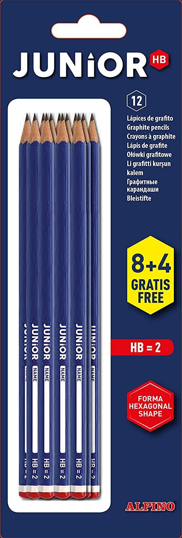 Blister 12 lápices con cabecilla Alpino (Precio al tramitar)