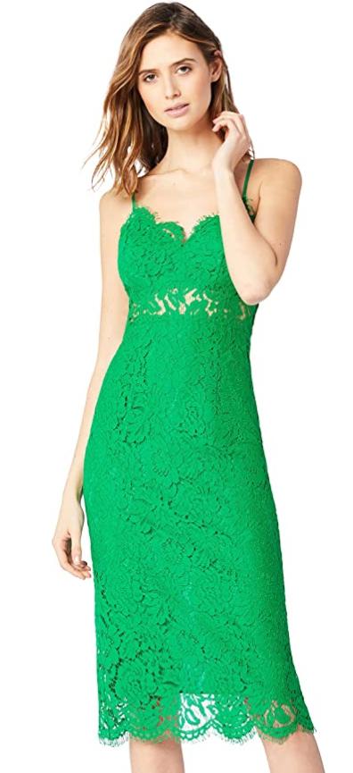 TALLAS 38(S) y 42(L) - TRUTH & FABLE Vestido Midi de Encaje Mujer (Desde 6.65€)