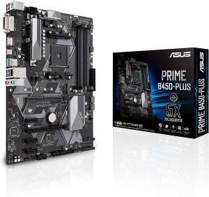 Asus Prime B450-Plus mainboard (ATX, AMD AM4, DDR4 memory, M.2, USB 3.1 Gen 2)