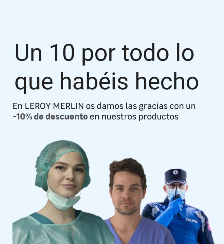 10% DESCUENTO EN PRODUCTOS A SANITARIOS, POLICIAS Y BOMBEROS
