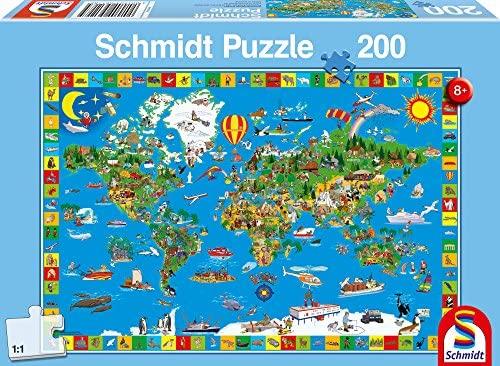 Puzzle mapa mundi marca schmidt