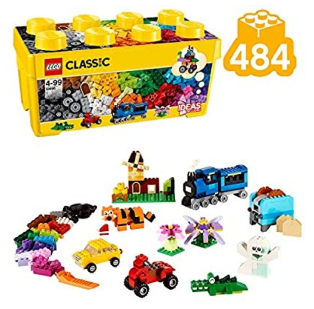 LEGO Classic - Caja de Ladrillos Creativa Mediana, Juguete de Construcción (3 Cajas con diferentes números de pieza, mirar en descripción)