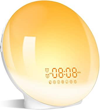 Lampara/Despertador Wake Up Light LED con Multiples Funciones