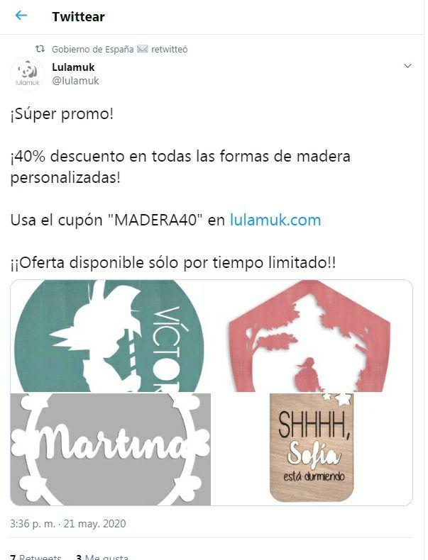 40% en formas de madera personalizadas - Envío gratis +10€