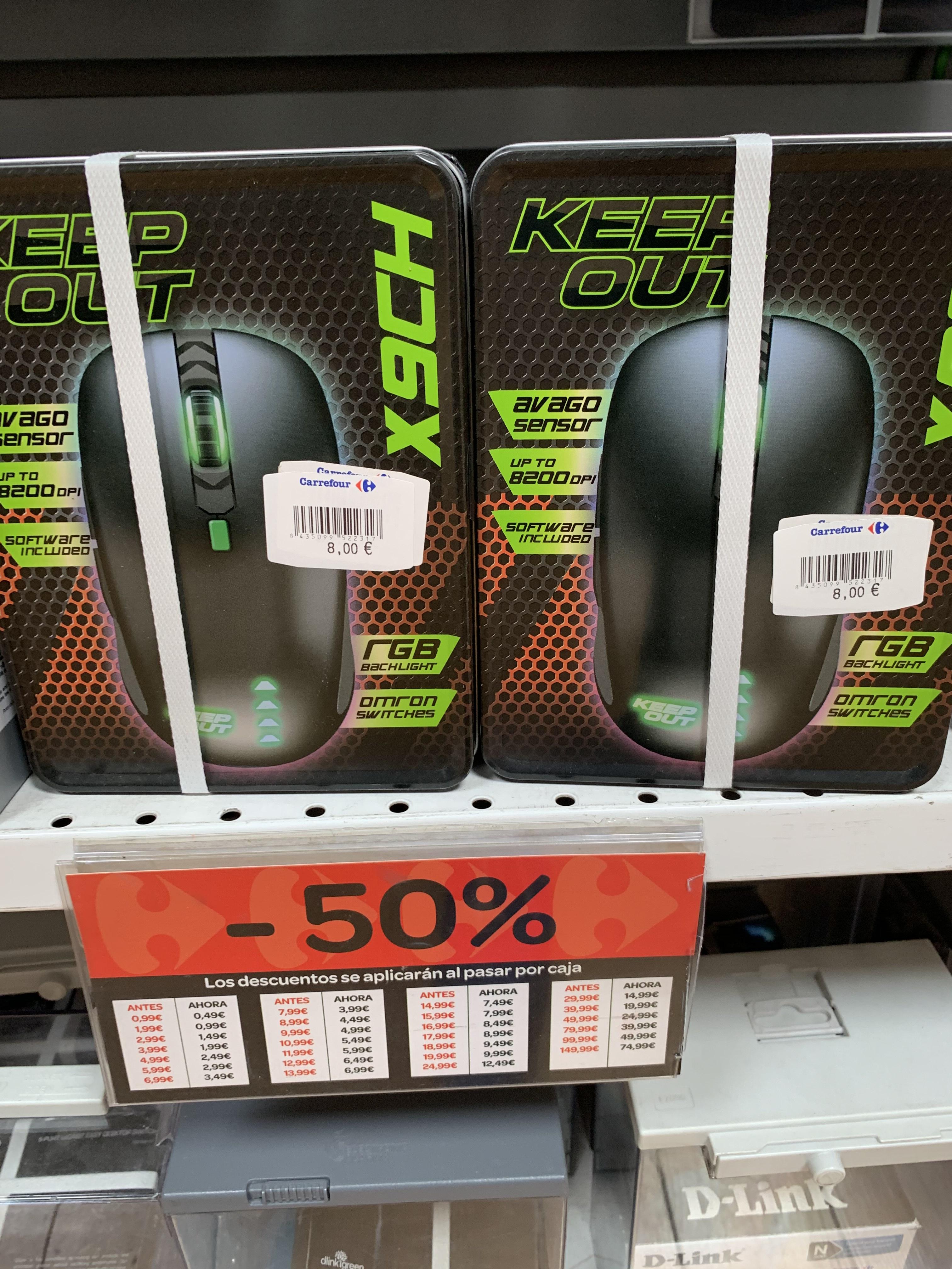 Ratón Keep Out Gaming X9CH 8200dpi (Carrefour Atalayas, Murcia)