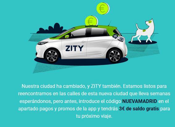 Cupon Zity 3 euros