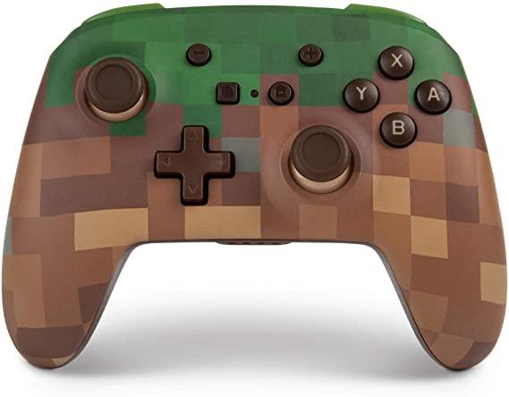 Mando PowerA para Switch: Minecraft Grass Block (33,24 € socios)