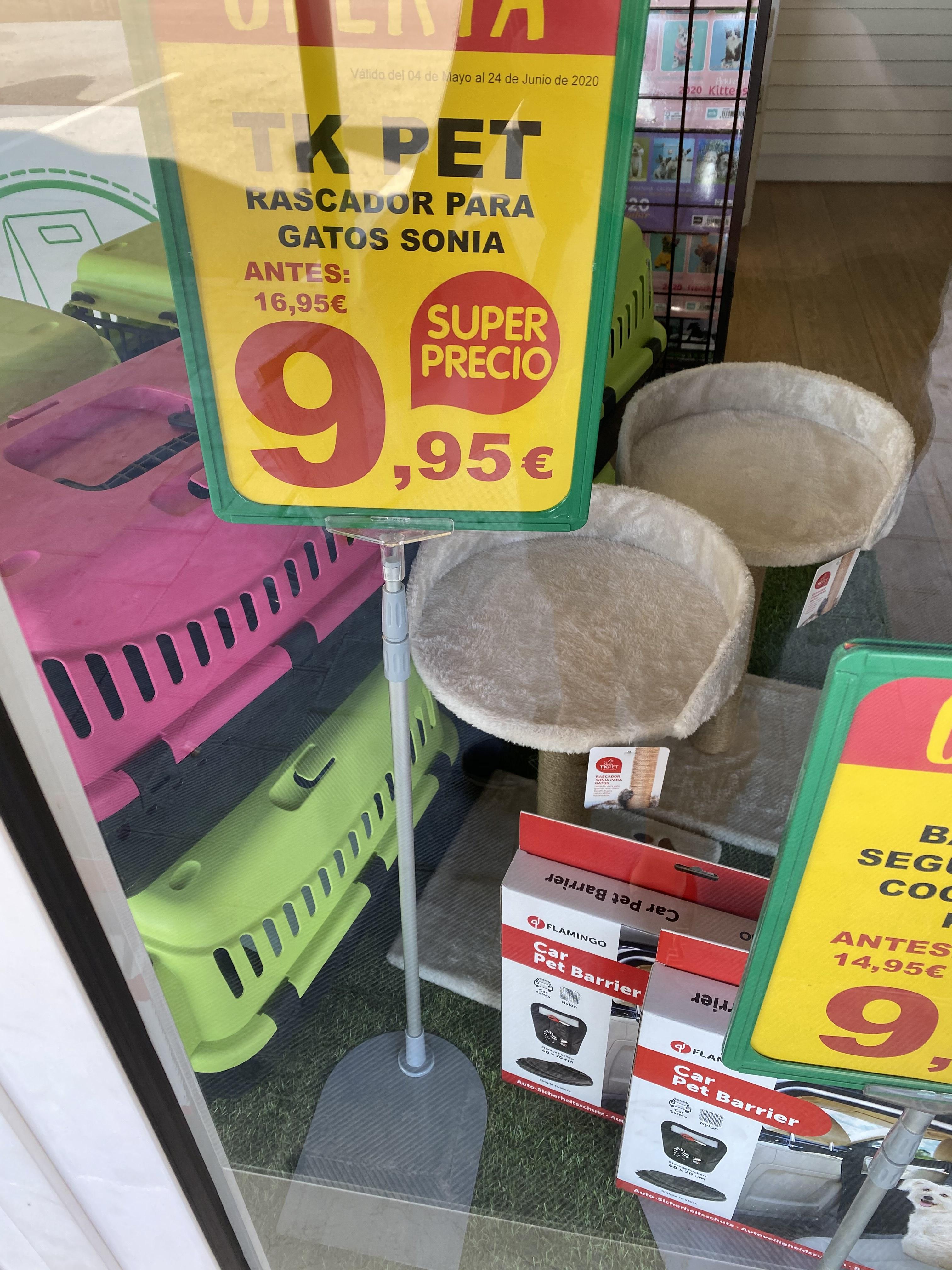 Rascador para gatos por 9.95€ (y más cosas) en Tienda Animal de Burjassot de Valencia