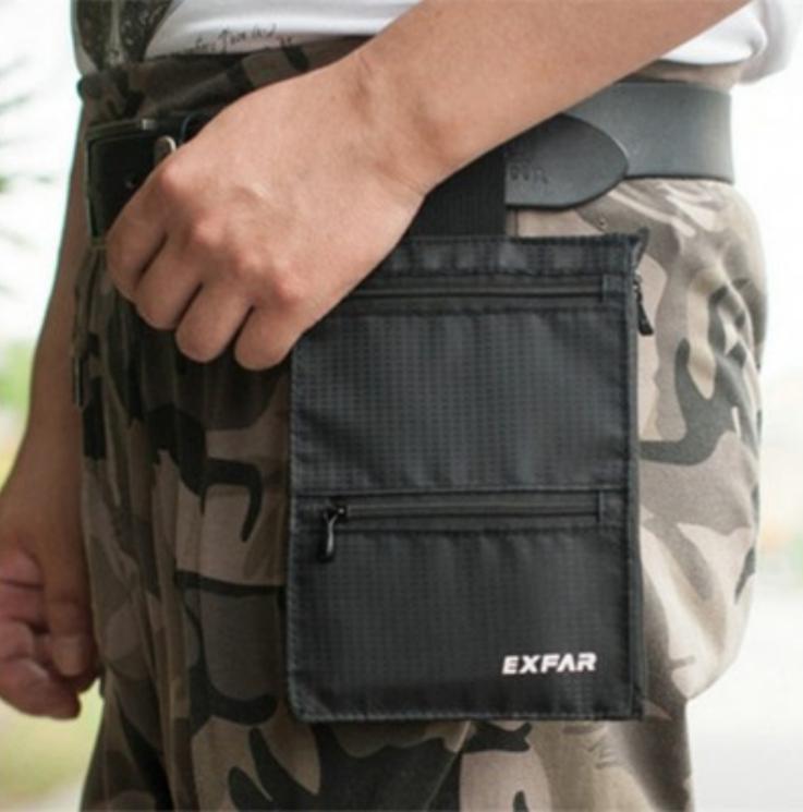 EXFAR Outdoor Sports Running Belt Bag Waist Cell Phone Pouch Card Holder