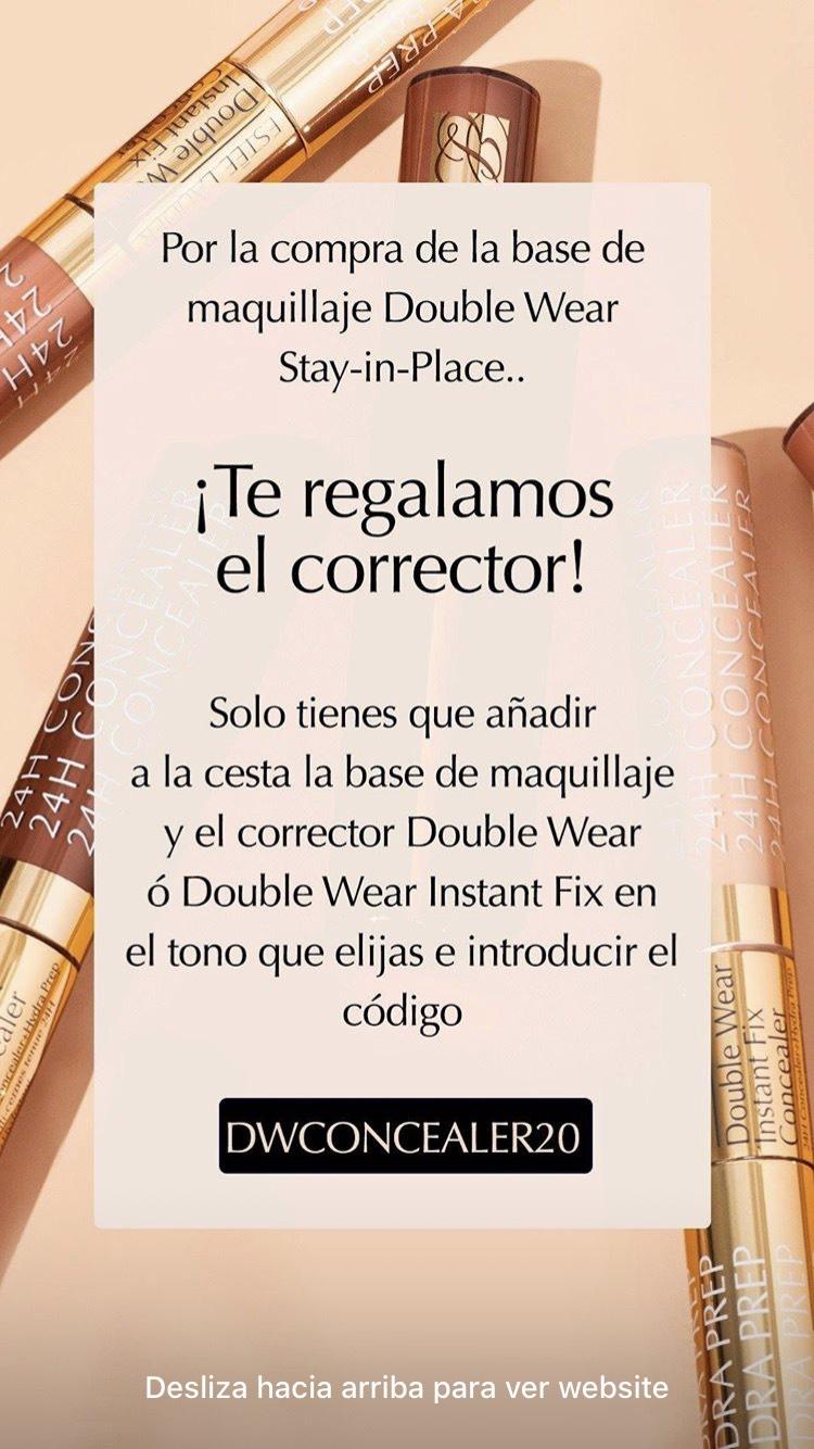Corrector de regalo por la compra de la base de maquillaje double wear