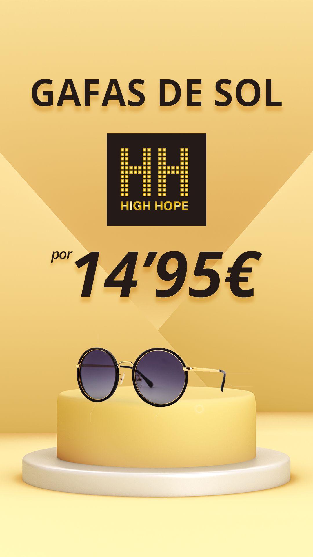 Gafas de sol de óptica por 14.95€