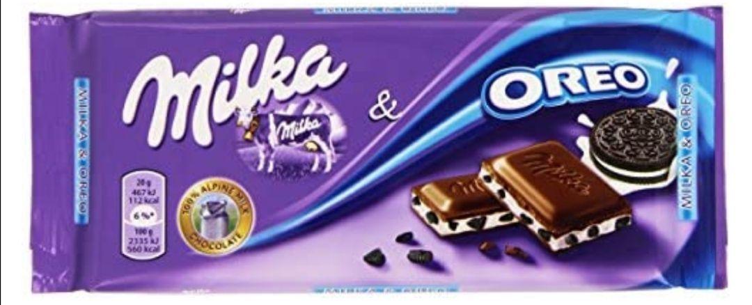 Milka - Chocolate con Galletas Oreo, 100 g