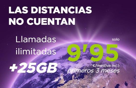 Fleximovil: Llamadas ilimitadas + 25GB por 9,95€ (Los 3 primeros meses)