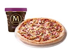 Pizza mediana + Helado de 440 ml