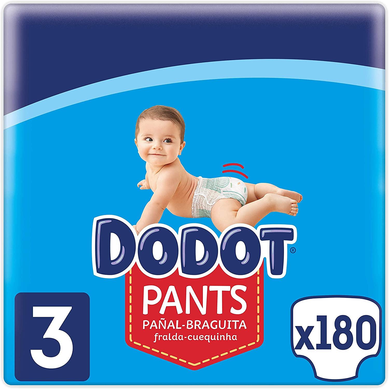 Dodot Pants Pañal - Braguita Talla 3, 180 Pañales, 6k g - 11 kg