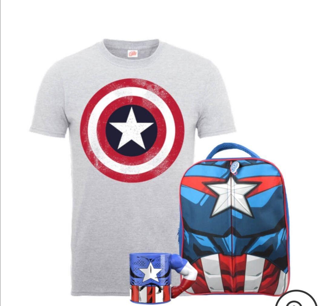 Marvel Captain America Backpack Bundle