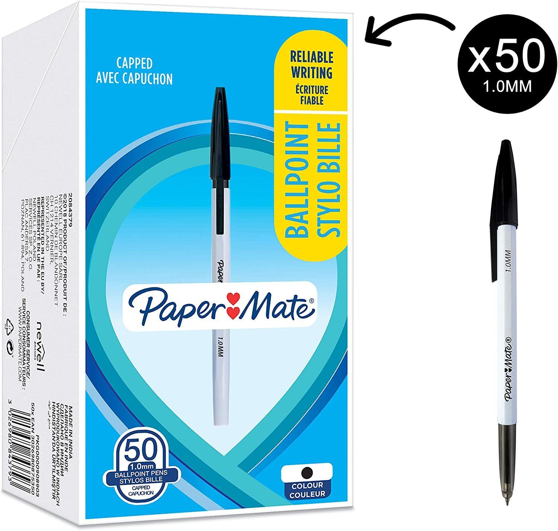 50 bolígrafos Papermate negros por 4,09€